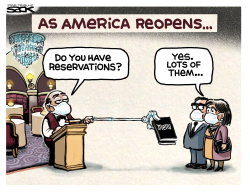 restaurant Distancing by Steve Sack