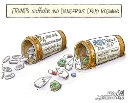 Hydroxychloroquine drug by Adam Zyglis