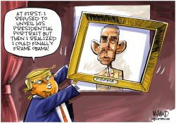 Obama presidential portrait unveiled by Dave Whamond