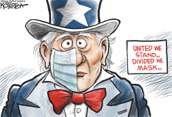 Uncle Sam with Half a Face Mask by Jeff Koterba