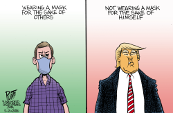 Trump: Mask or not by Bruce Plante