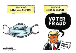 Trump claims voter fraud by Jimmy Margulies