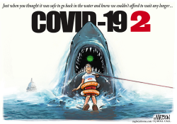 Covid-19 Jaws 2 by R.J. Matson