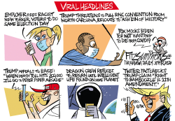 Viral headlines by David Fitzsimmons