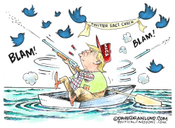 Trump vs Twitter fact check by Dave Granlund