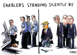 Enablers standing silently by by Dave Whamond