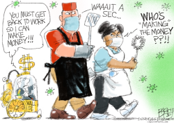 Non-essential Billionaires by Pat Bagley