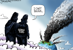 Protests and Looting by Joe Heller