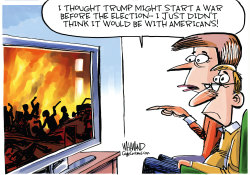 Trump declares war on his own citizens by Dave Whamond