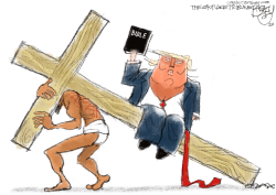 Fake Piety by Pat Bagley
