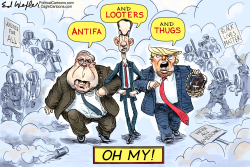 Antifa Looters Thugs by Ed Wexler