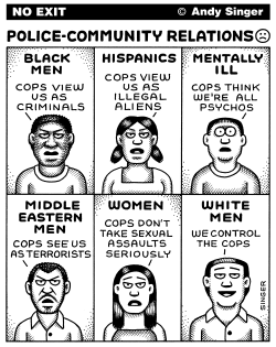 Police Community Relations by Andy Singer