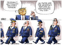 Trump gets his military parade by Dave Whamond