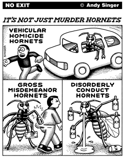 Not Just Murder Hornets by Andy Singer