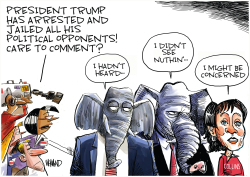 The silence of the GOP by Dave Whamond