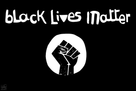 blm flag by NEMØ