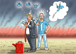 Trump on Twitter by Marian Kamensky