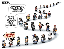 Georgia Vote Suppression by Steve Sack