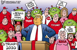 Trump's Rally Crowd -Tulsa by Bruce Plante