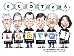 LGBTQ and SCOTUS by Dave Granlund