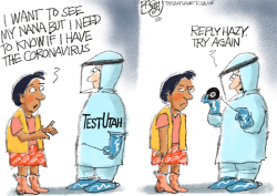 LOCAL: COVID Testing  by Pat Bagley