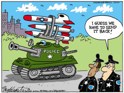 Militarized Police Depts. by Bob Englehart