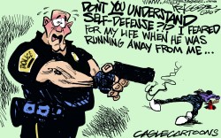 Police Shooting by Milt Priggee