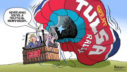 Trump Tulsa rally by Paresh Nath