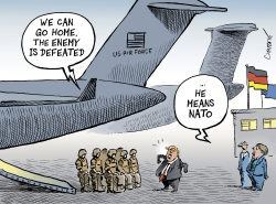 US troops to leave Germany by Patrick Chappatte