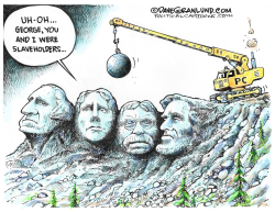 Statues and PC by Dave Granlund