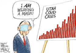 LOCAL: Governor COVID by Pat Bagley