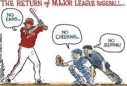 The Return of Major League Baseball by Jeff Koterba