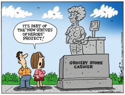 The Right Kind Of Statue by Bob Englehart