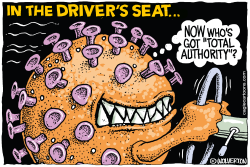 Covid in the Driver's Seat by Monte Wolverton