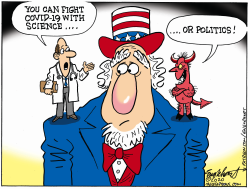 Science vs Politics by Bob Englehart
