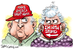 MAGA Mask Stupid by Daryl Cagle