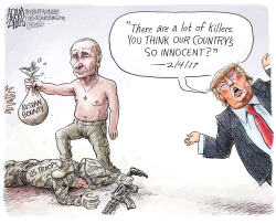 Russian bounty by Adam Zyglis