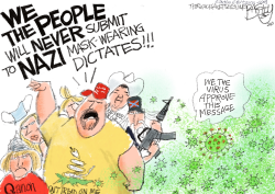Mask Tyranny  by Pat Bagley