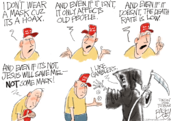 Death Plays Dice  by Pat Bagley