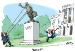 Trump Defends Putin Statue on White House Lawn by R.J. Matson