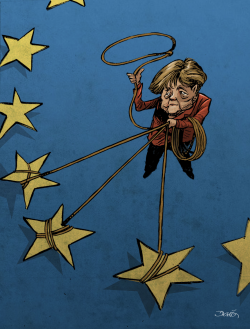 The Merkel´s challenge by Dario Castillejos