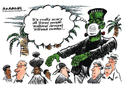 People without face masks by Jimmy Margulies