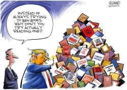 Trump tell-all books by Dave Whamond