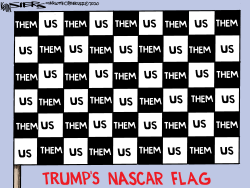 Trump NASCAR Flag by Kevin Siers