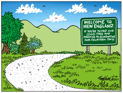 No Tourists Allowed by Bob Englehart