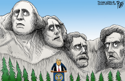 Trump speaks at Mt. Rushmore by Bruce Plante