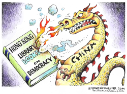 China vs Hong Kong books by Dave Granlund
