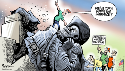 Tearing down statues by Paresh Nath
