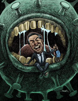 Bolsonaro infected of COVID by Dario Castillejos
