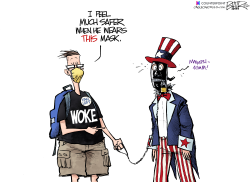 Masks and Wokeness by Nate Beeler
